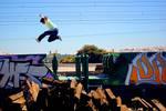 jumping train