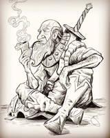 Old Warrior Sketch by JoeyJulian
