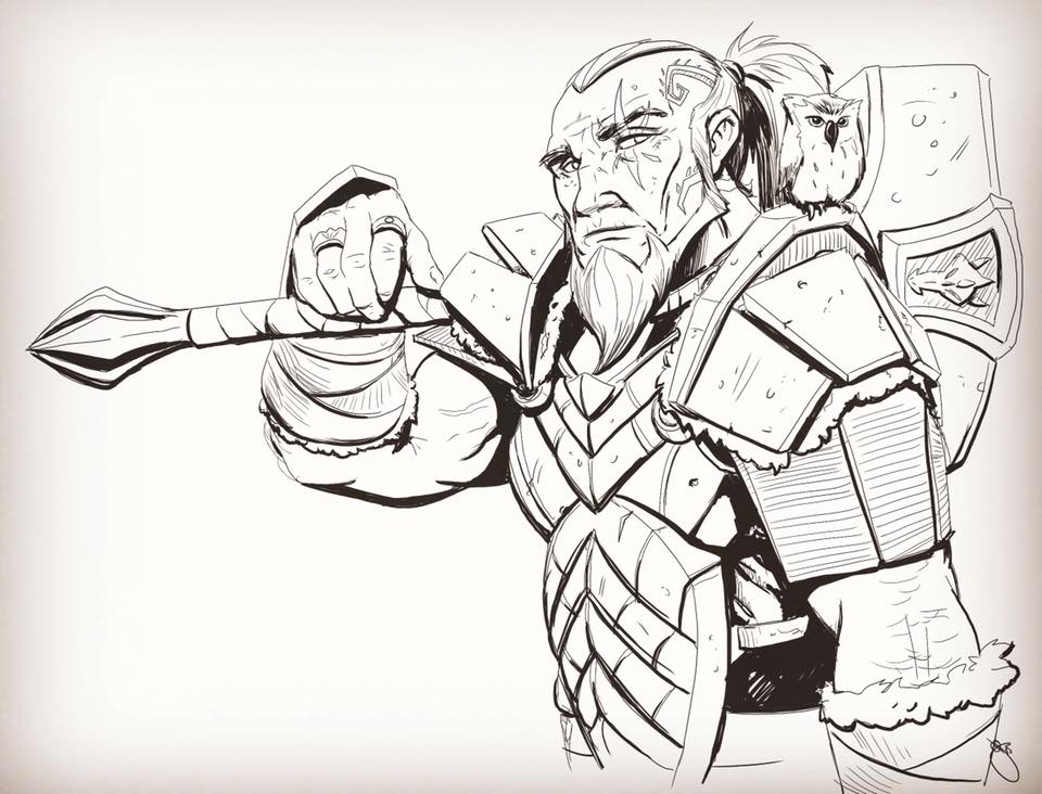 Dwarf Warrior by JoeyJulian