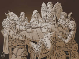 Dungeons and Dragons Commission 5 by JoeyJulian