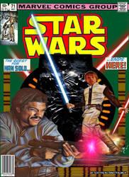 Original Marvel Star Wars 71 homage by screamsinthevoid