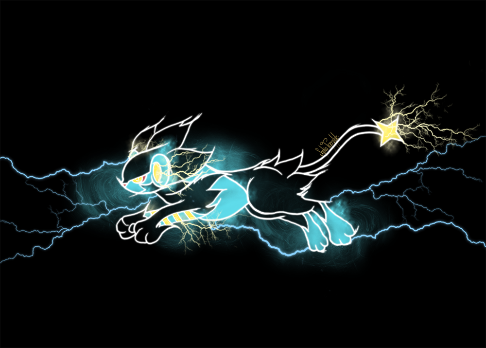 Neon Glowing Luxray By SophiaTigerpfote