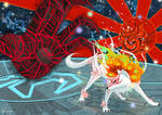 The sun rises Amaterasu vs Yami