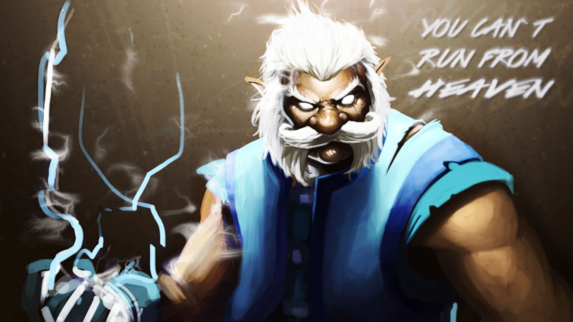 Dota 2 Wallpaper 3 Edit - Zeus by VenysseusDOTA