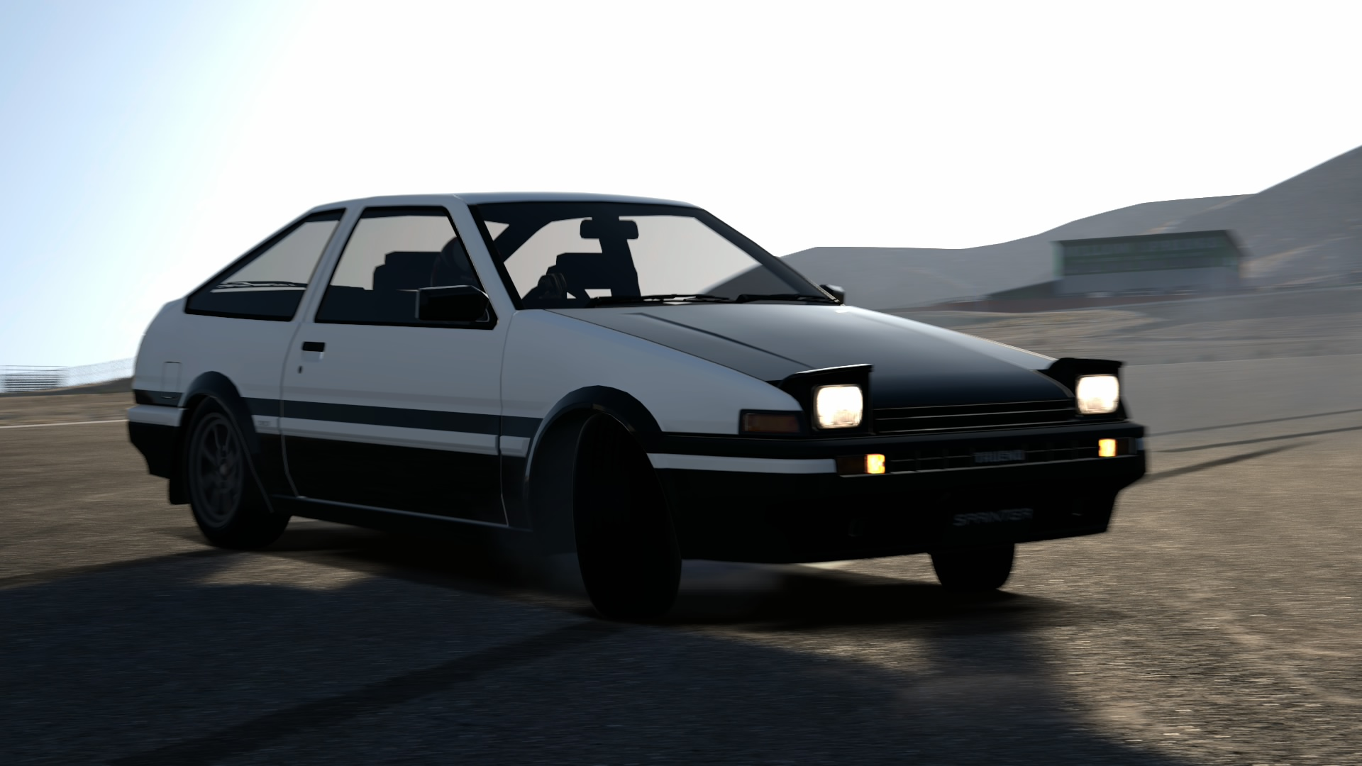 toyota ae86 sprinter trueno s shigeno ver drift by. Black Bedroom Furniture Sets. Home Design Ideas
