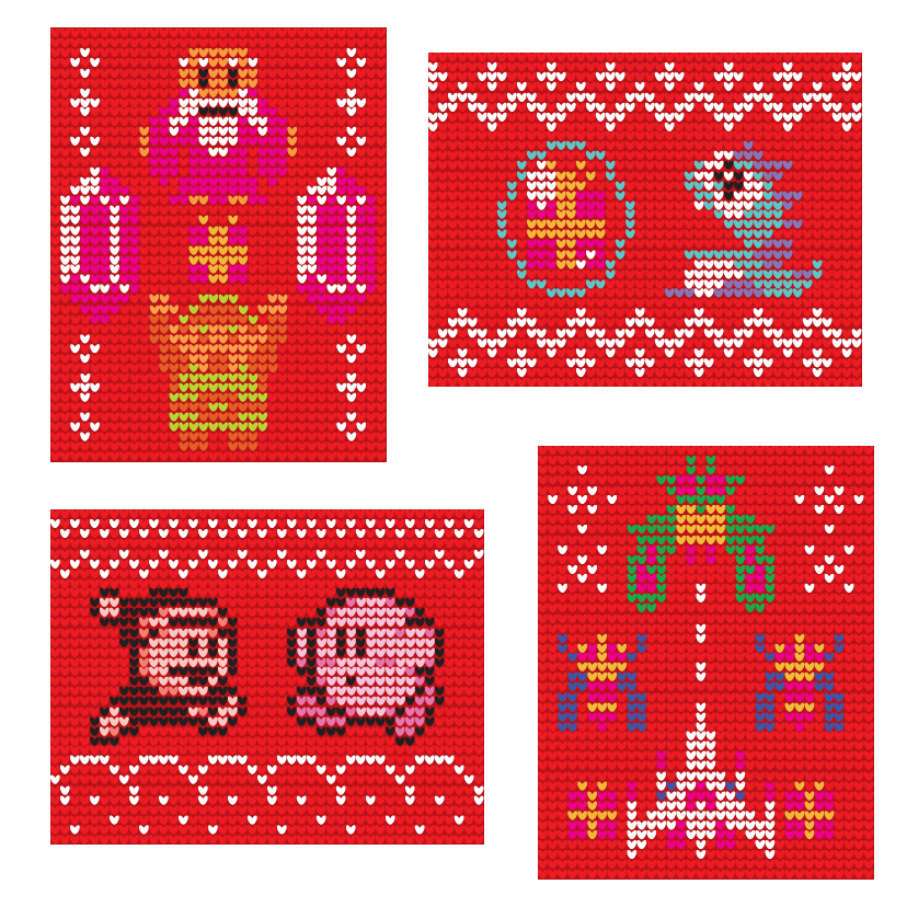 Christmas Pixels by Nalthar