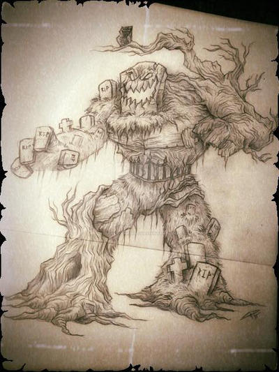 Monster Hunting Journal Enrty 1: Graveyard Monster by chrisraimoart