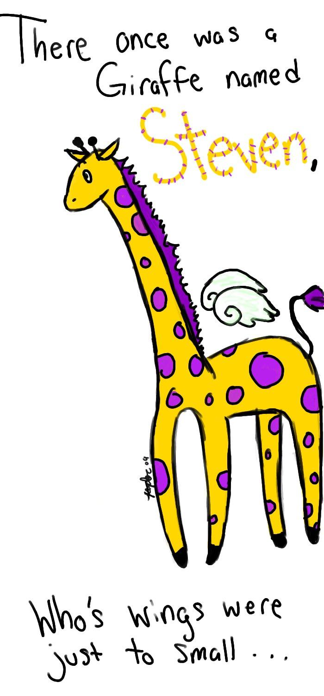 Fat Giraffe Cartoon
