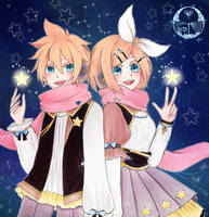 Gemini Rin and Len~ by unknownbird27