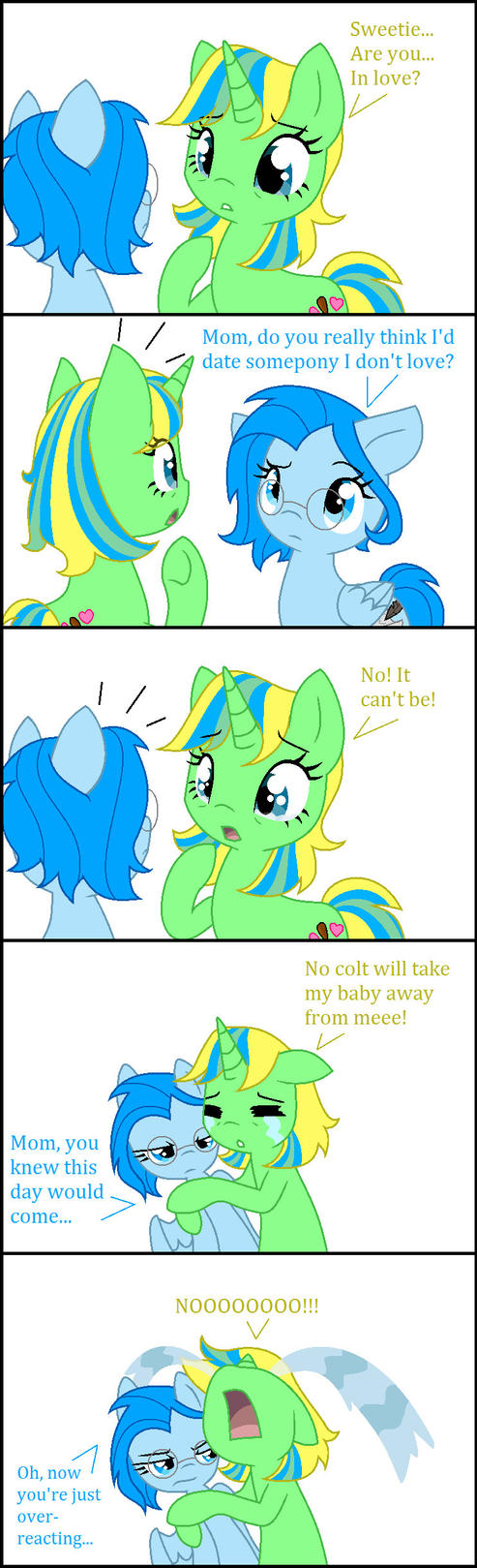 What happened when I told my mom I'm dating by BlueTrueBrazilFilly