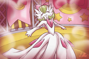 Mega Gardevoir in a Contest