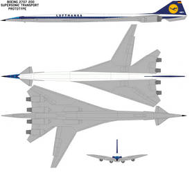 Boeing 2707-200 Lufthansa by Phillipzu