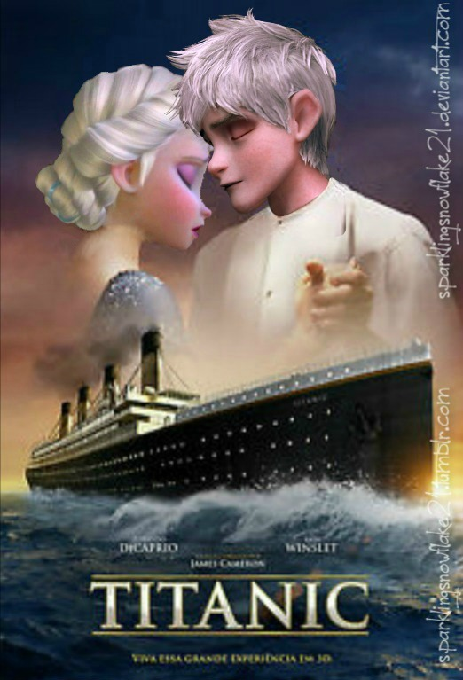Titanic- Jack Frost and Elsa by SparklingSnowflake21 on