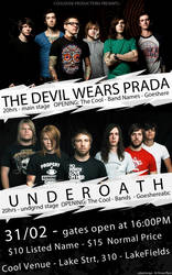 Flyer - Underoath and TDWP