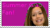 Summer Glau Fan -Stamp-