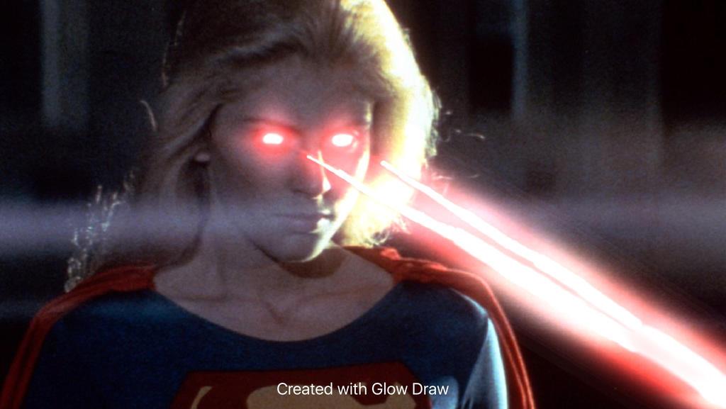 Helen Slater Supergirl Heat Vision Effect 3