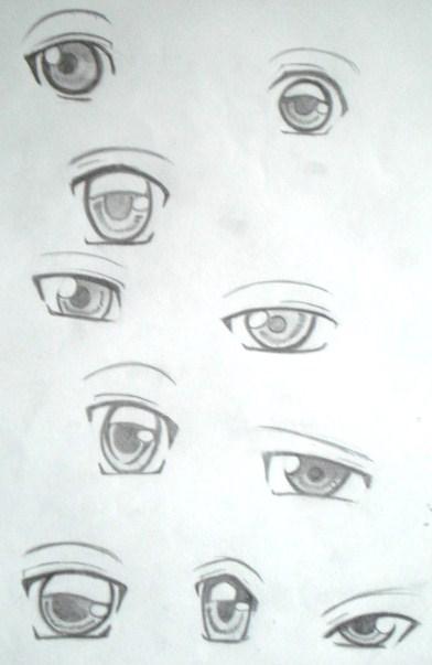 how to draw eyes sidewards anime