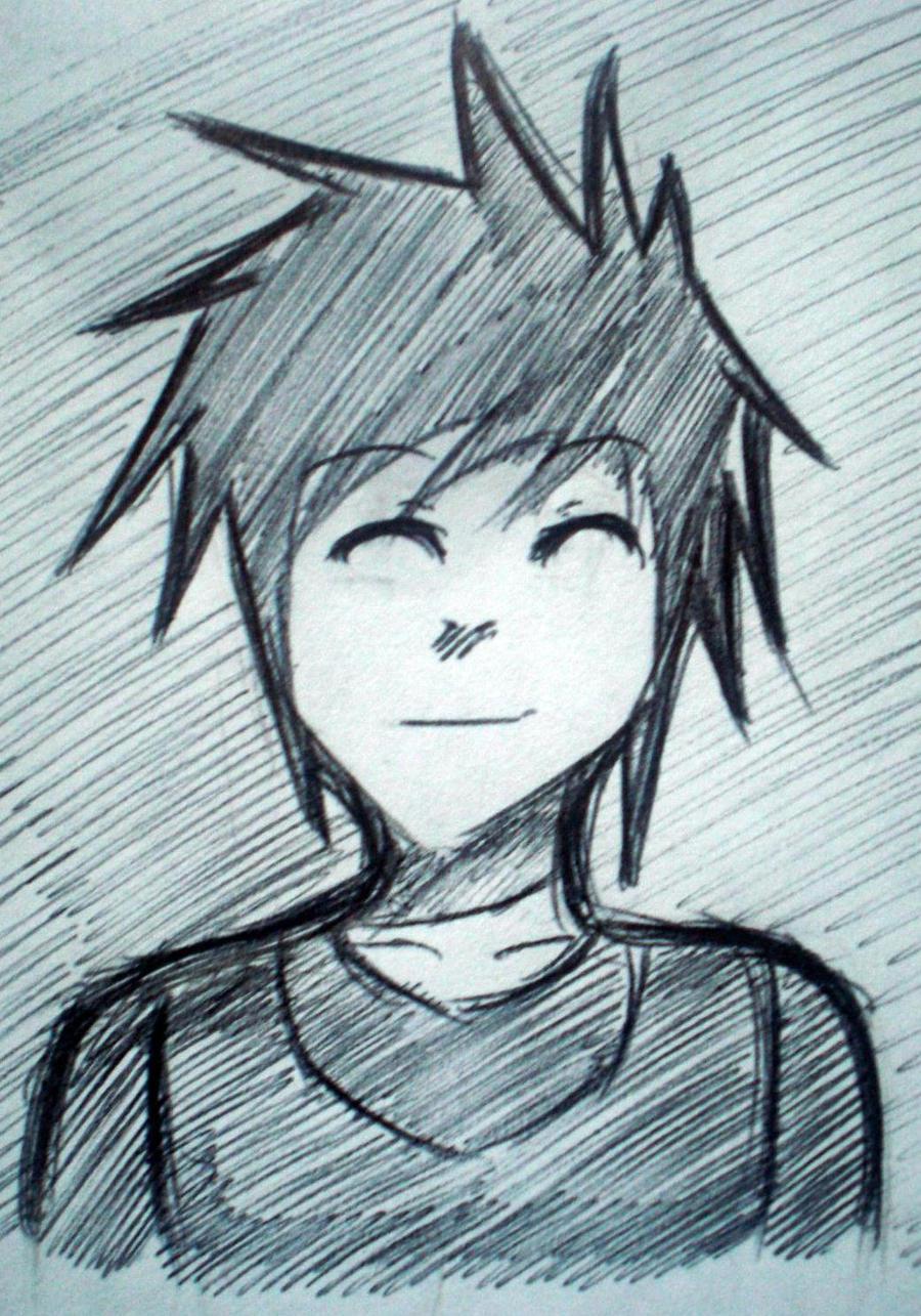 Anime Guy Pen Sketch By JojoLemonJuice On DeviantART