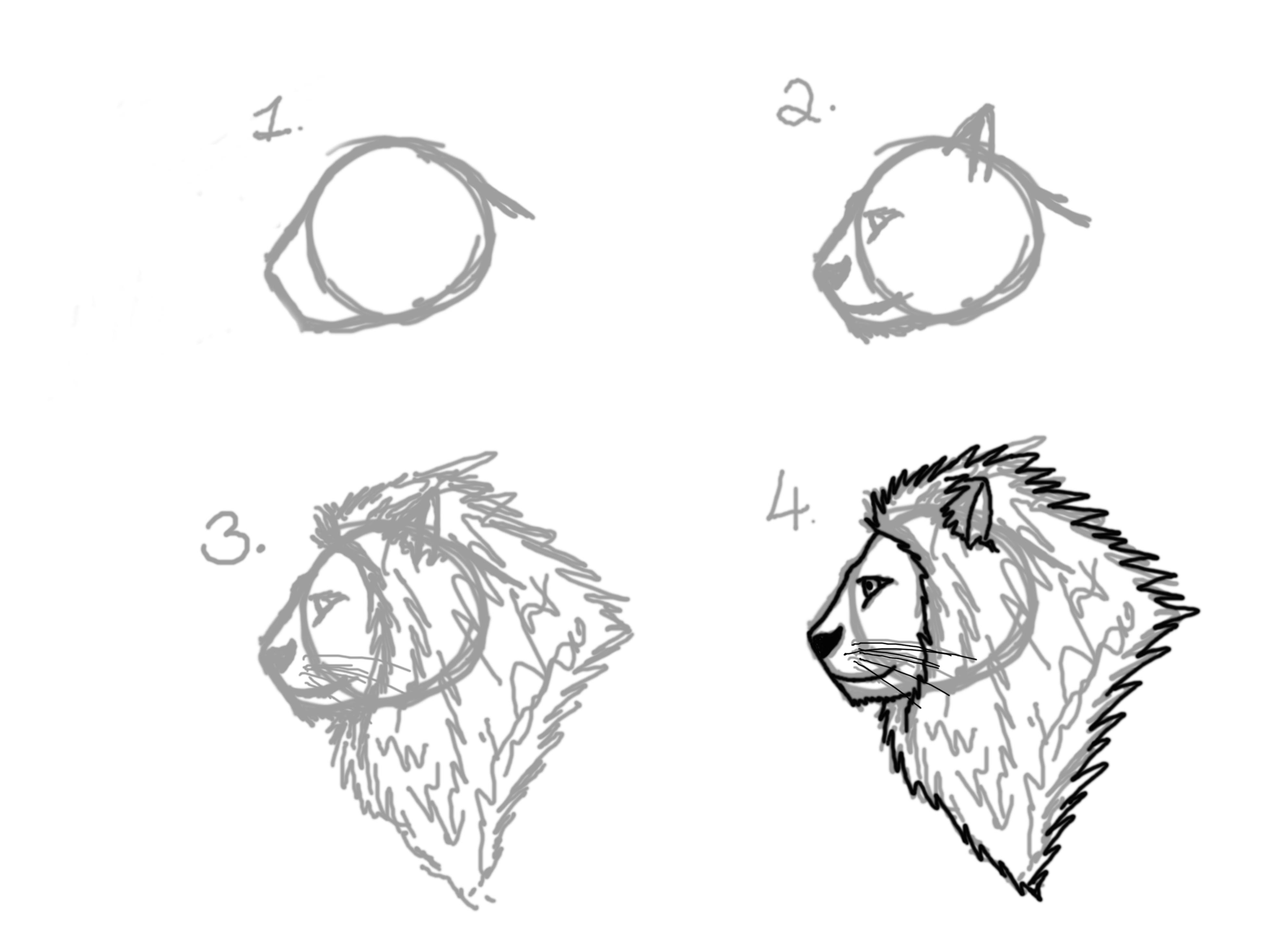 Uncategorized How To Draw A Lion Head Step By Step lion head tutorial by mysticwolveshowl on deviantart mysticwolveshowl