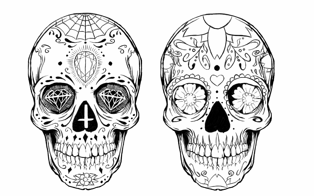 Sugar Skull Tattoo Design By Alxpalm On Deviantart