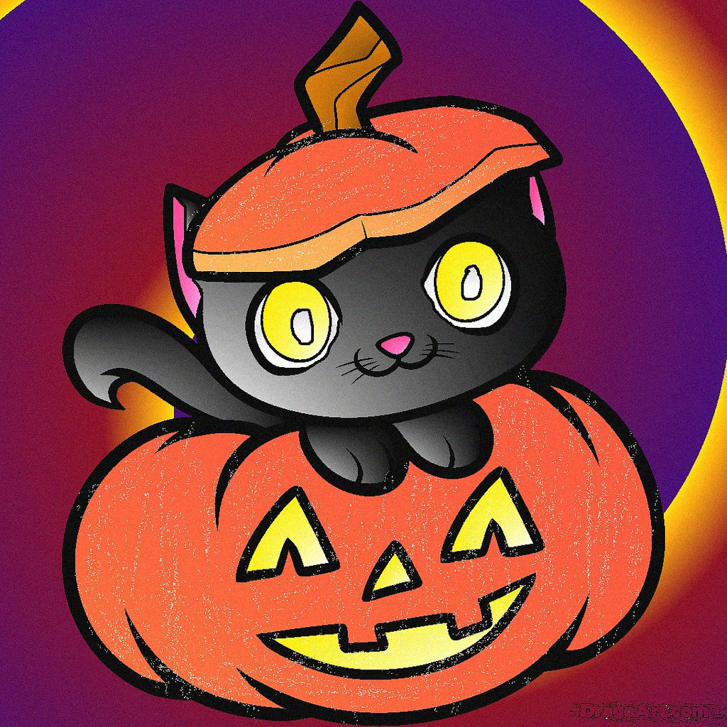 How-to-draw-a-halloween-cat-halloween-cat-step by Blood ...