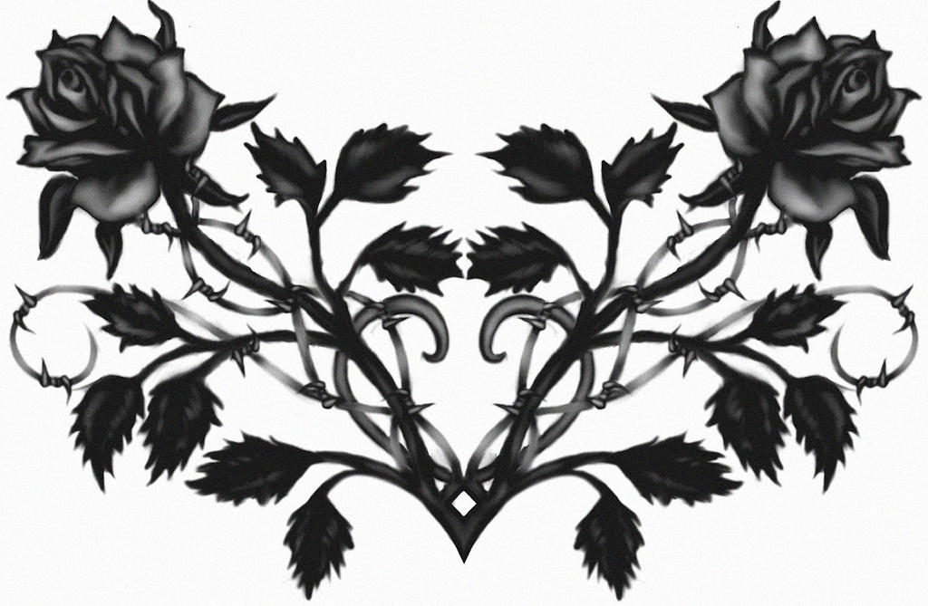 the black gothic rose crown wallpaper