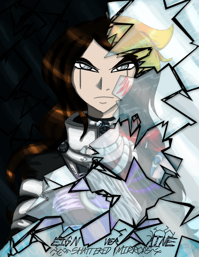 how to draw shattered mirror