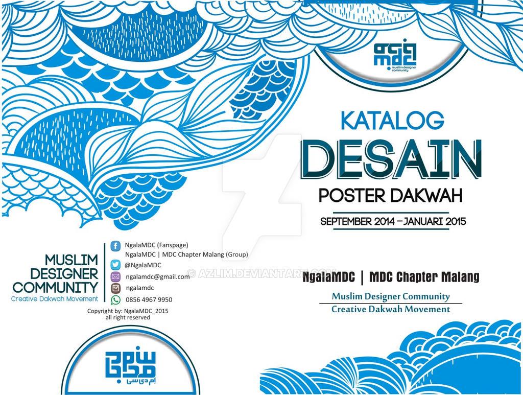 cover katalog desain poster by azlim