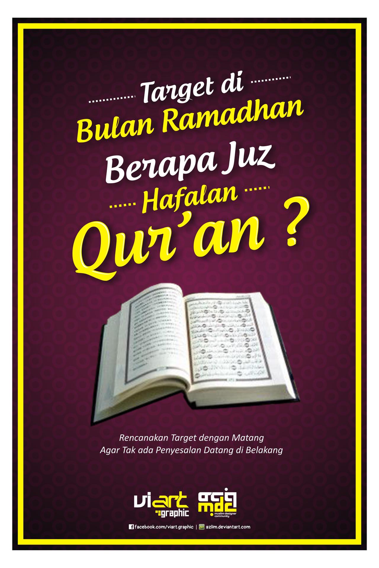 Poster Dakwah VI-Art 'Targetkan Hafalan Quran' by Azlim on ...