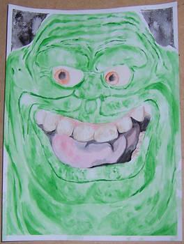 Slimer acrylic painting