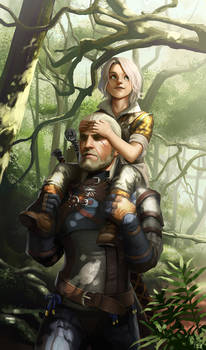 Geralt and Ciri by lockjaw