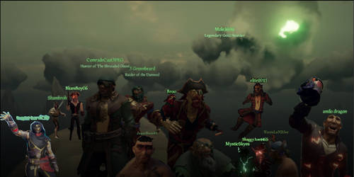 Me and my Sea Of Thieves crew