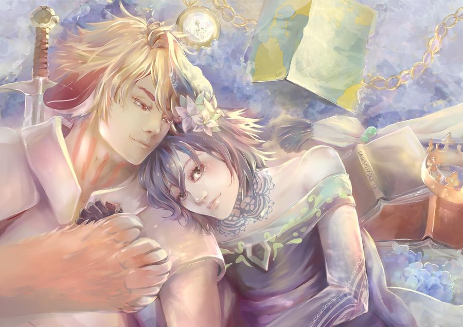 Wyn and Aster by lanamiyuki