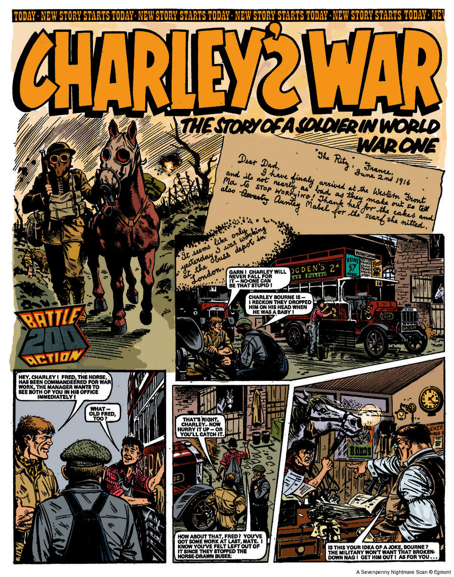Charleys War Page 1 redone by FuzzChile