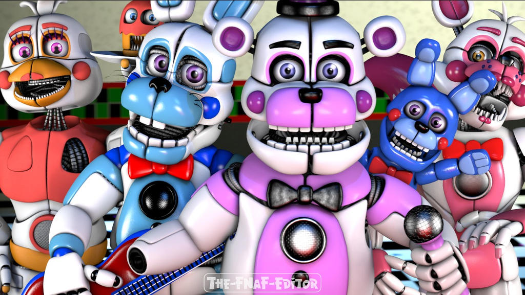 SFM FNAF] All FNaF Funtime Characters by TFEarts on DeviantArt