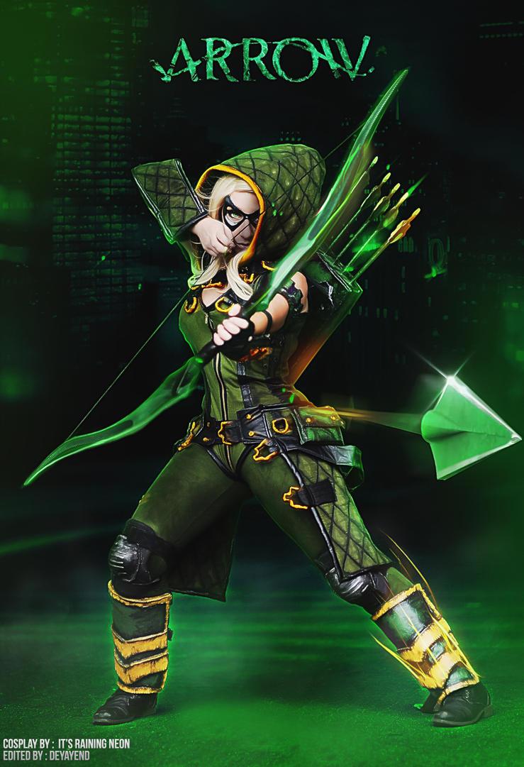 Arrow Cosplay 3 (Its Raining Neon) by deyayend on DeviantArt