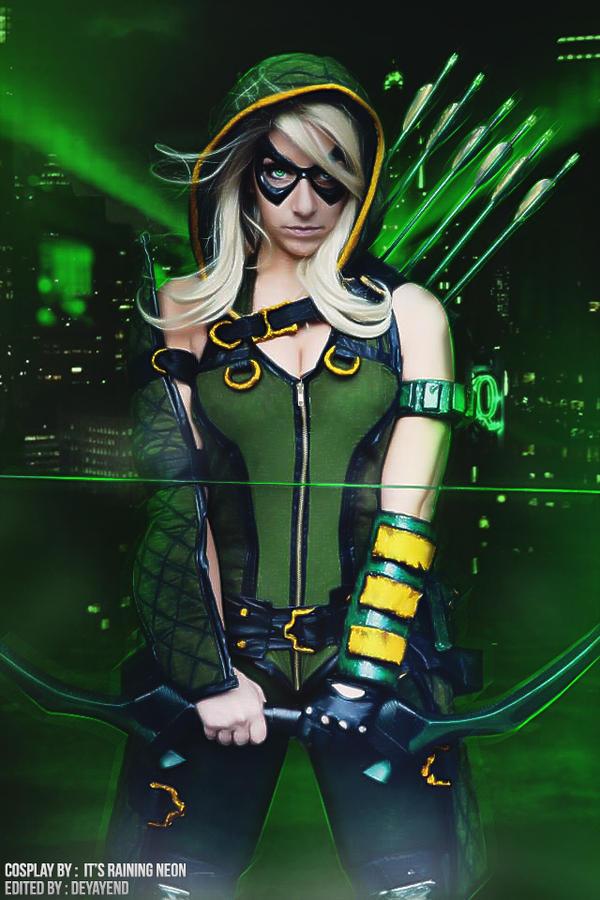 Green Arrow by Its Raining Neon_   MyConfinedSpace
