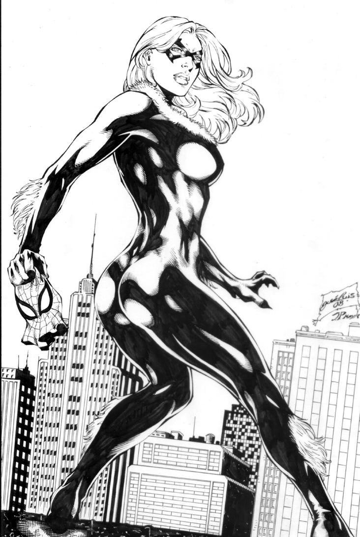 Black Cat Commission Inks by JPMayer