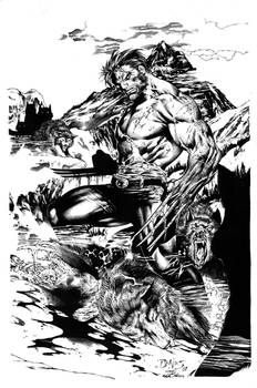 Ed Benes Woverine Inks Pin-Up