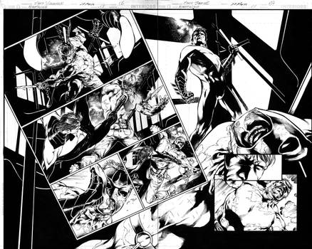 Nightwing 01 Page 06,07 Inks