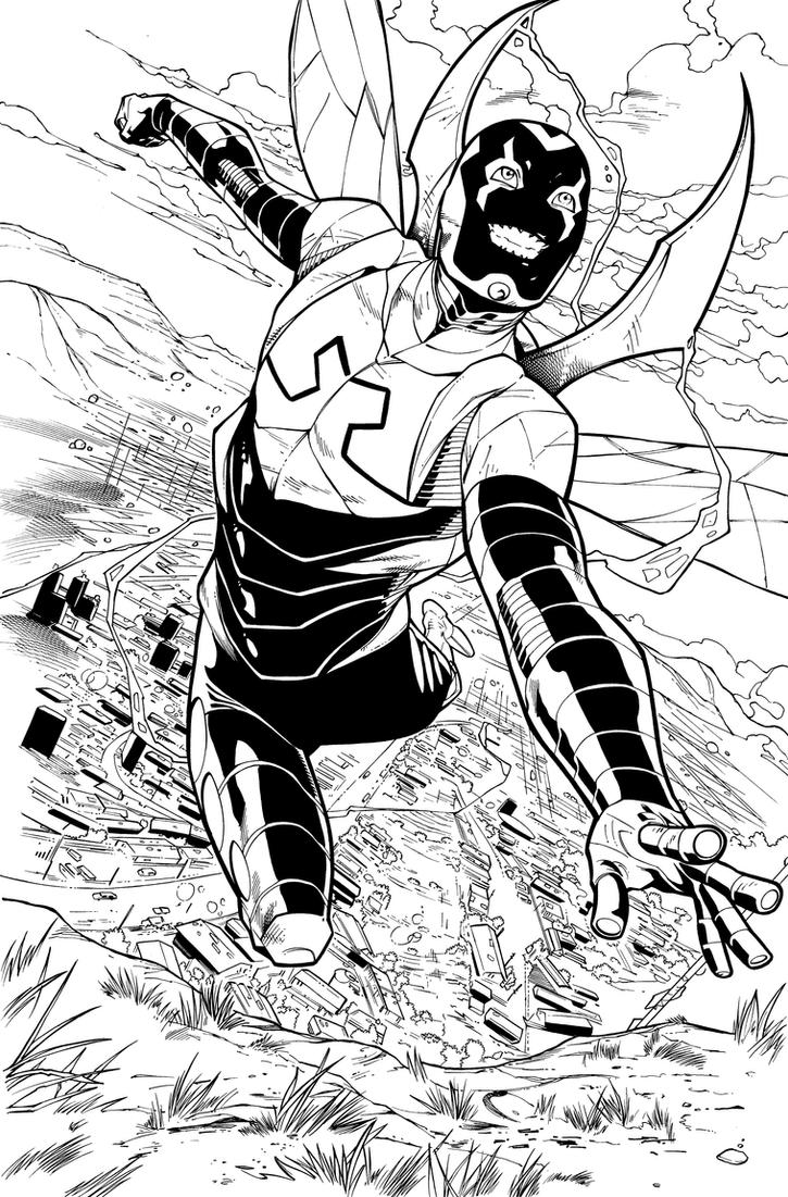 Blue beetle 03 page 02 inks by jpmayer on deviantart for Blue beetle coloring pages