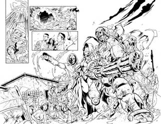 Blue Beetle 04 Pages 02,03 Inks by JPMayer