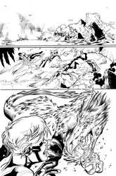 Teen Titans 09 Page 20 Inks by JPMayer
