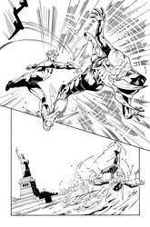Blue Beetle 11 Page 08 Inks by JPMayer