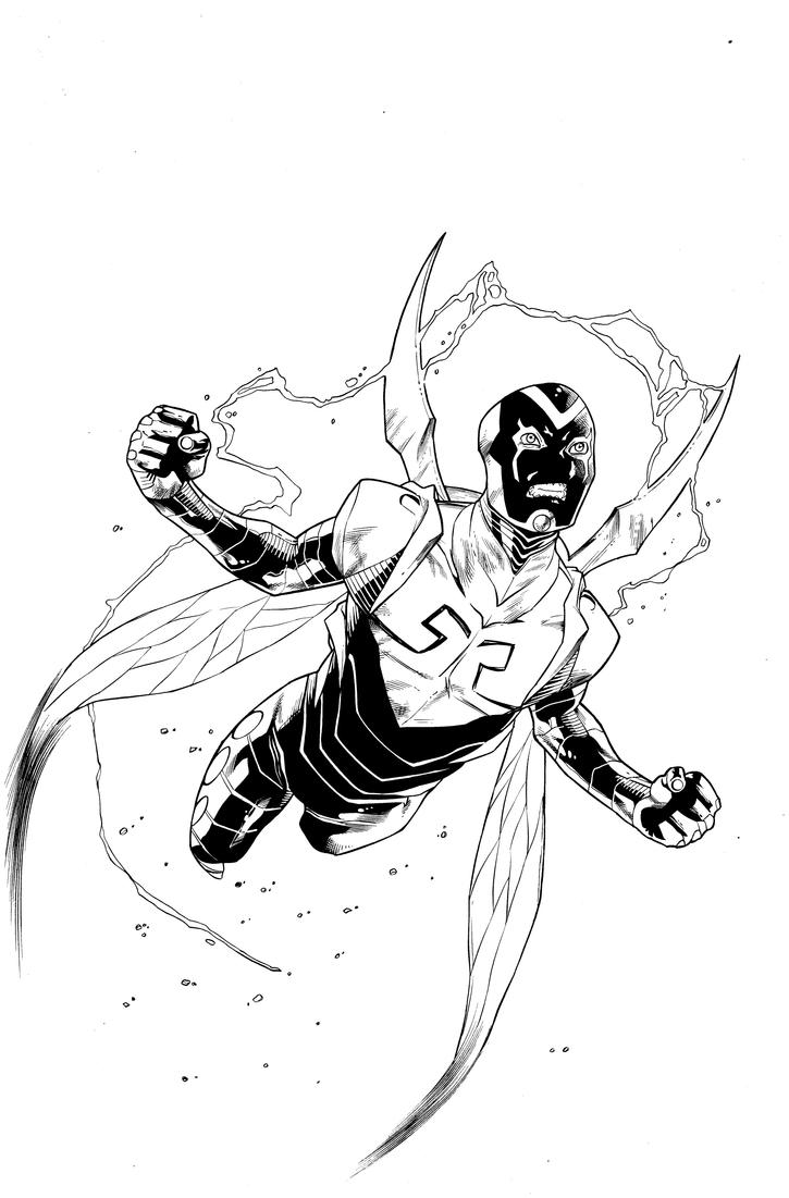 Blue Beetle Coloring Pages Coloring Page
