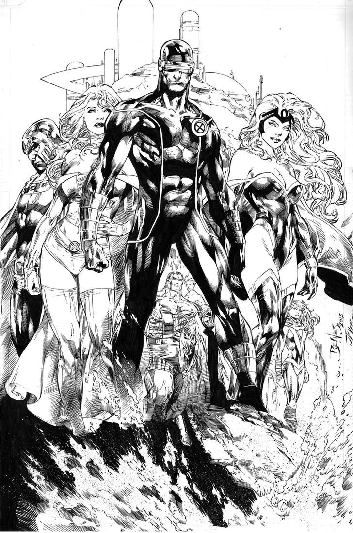 X-men by Ed Benes by JPMayer