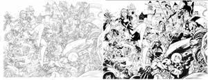 Inks On Diego Bernard Pencils