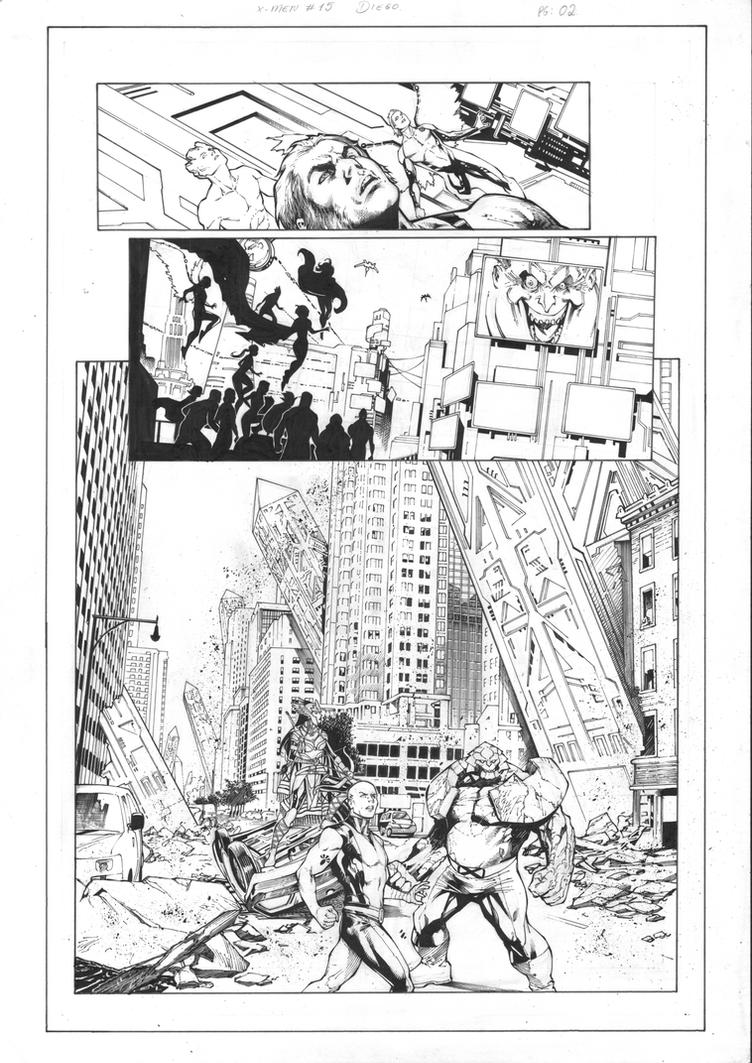 X-Men Gold #15 Page 02 Inks by JPMayer