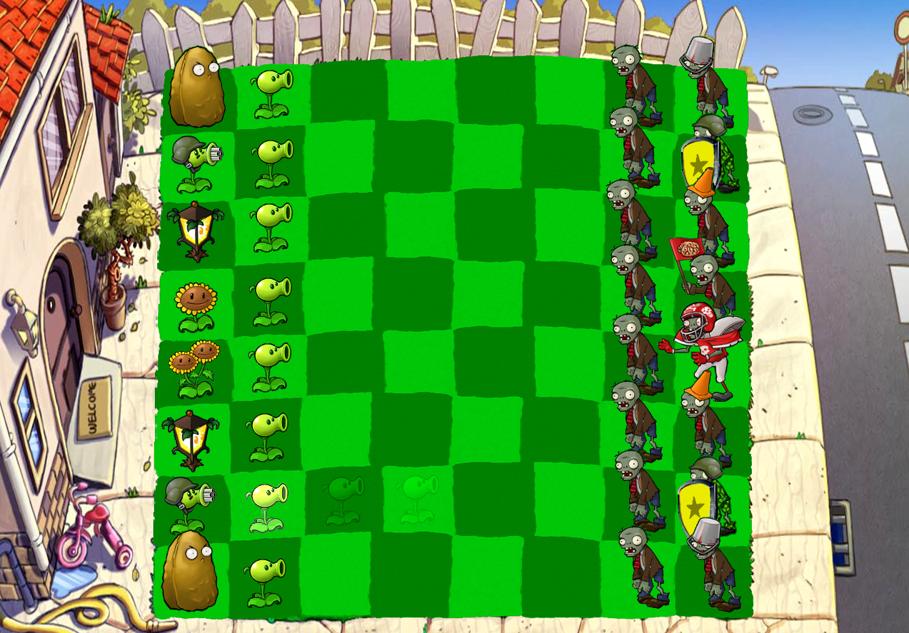 Plants vs. zombies - chess by zomplantjelo