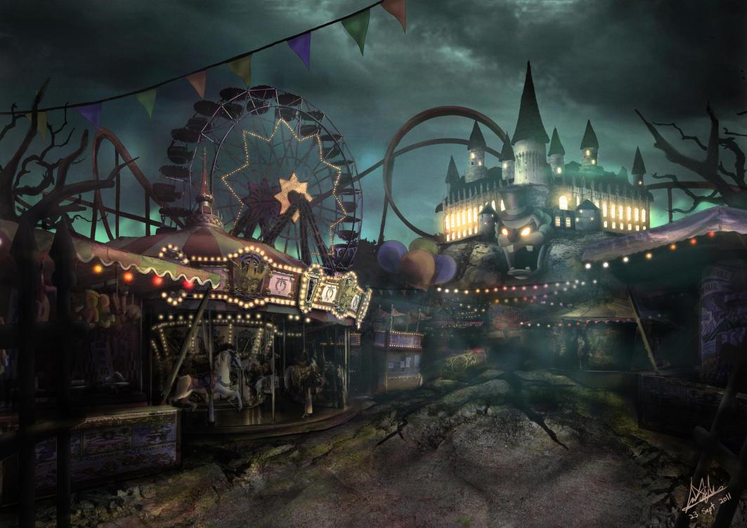 Carnival madness by davislim on deviantart for Amusement park decoration games